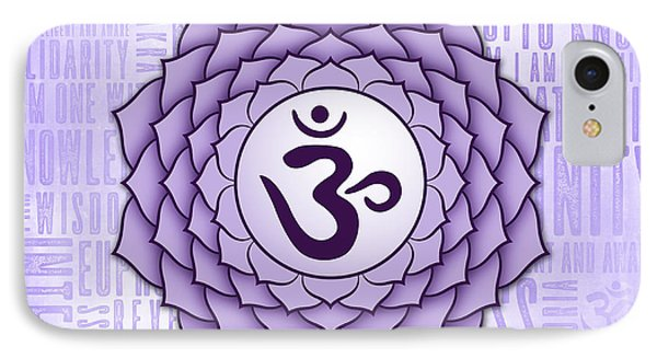 Crown Chakra - Awareness Phone Case by David Weingaertner