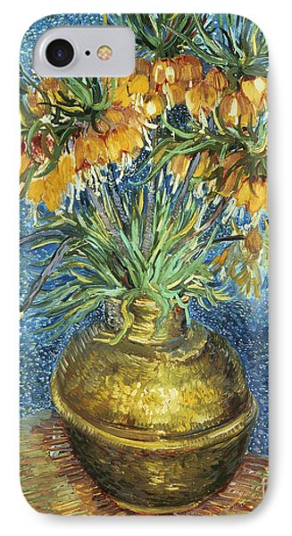 Crown Imperial Fritillaries In A Copper Vase Phone Case by Vincent Van Gogh