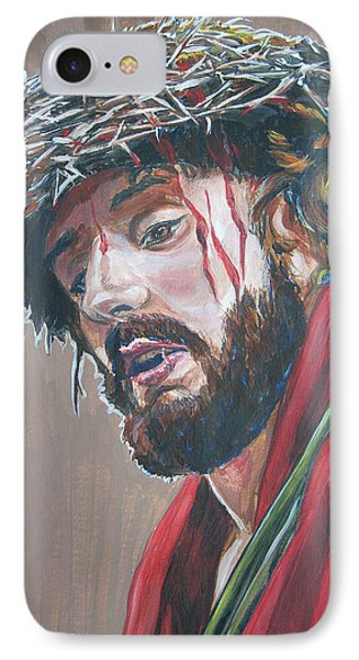 IPhone Case featuring the painting Crown Of Thorns by Bryan Bustard