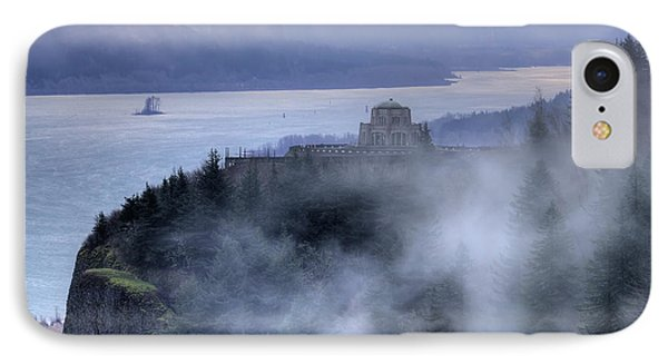 Crown Point Vista House Fog Columbia River Gorge Oregon IPhone Case by Dustin K Ryan