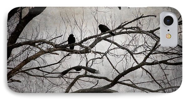 Crows At Midnight IPhone Case by Angie Rea