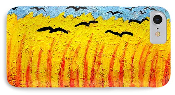 Crows Over Vincent's Field IPhone Case