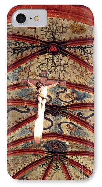 Crucifix In The Carmelite Convent Church In Mainz   IPhone Case