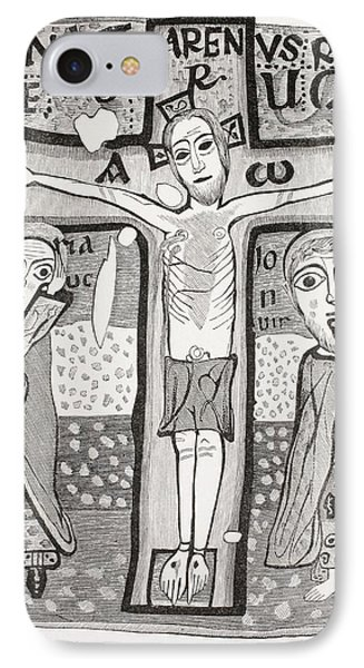 Crucifixion Of Jesus Christ. After A IPhone Case by Vintage Design Pics