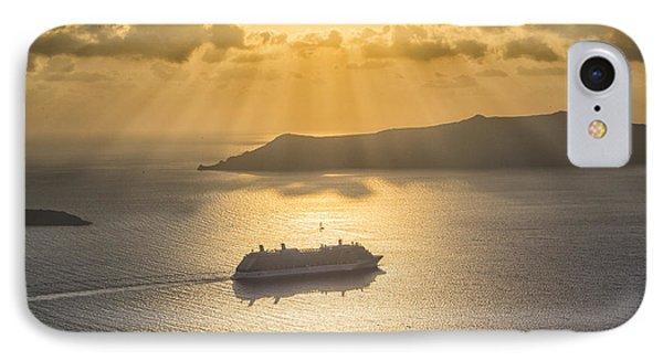 Cruise Ship In Greece IPhone Case by Kathy Adams Clark
