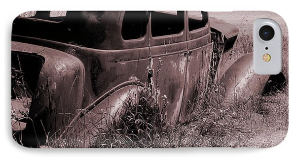 IPhone Case featuring the photograph Crumbling Car by Kae Cheatham