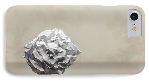 Crumpled Paper Ball IPhone Case by Alain De Maximy