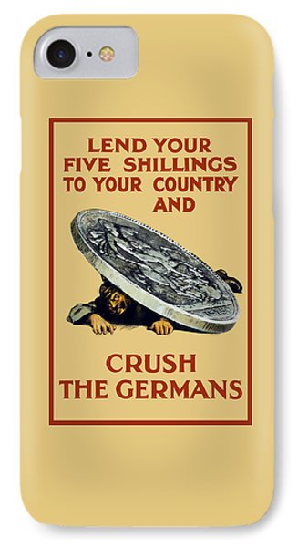 Crush The Germans - Ww1 IPhone Case by War Is Hell Store