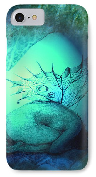 IPhone Case featuring the painting Crying Fairy by Ragen Mendenhall
