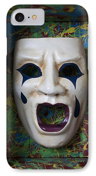 Crying Mask In Box Phone Case by Garry Gay