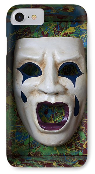 Crying Mask In Box IPhone Case by Garry Gay