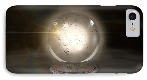 Crystal Ball Glowing IPhone Case by Allan Swart