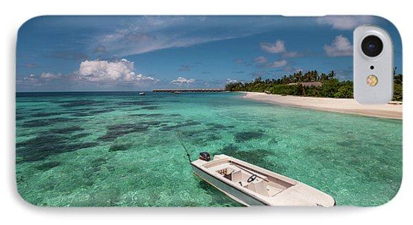 Crystal Clarity. Maldives Phone Case by Jenny Rainbow