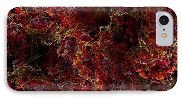 IPhone Case featuring the digital art Crystal Inspiration Number Two Close Up by Olga Hamilton