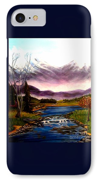 Crystal Lake With Snow Capped Mountains IPhone Case by Kimberlee Baxter