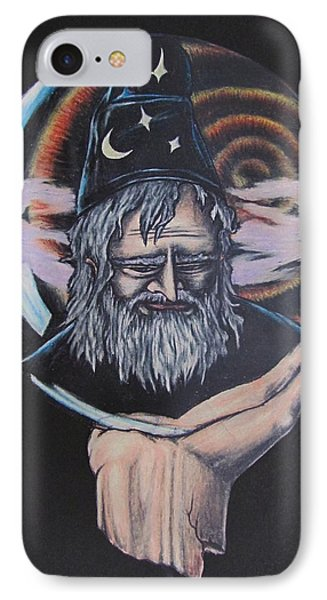 IPhone Case featuring the drawing Crystal Wizard by Michael  TMAD Finney