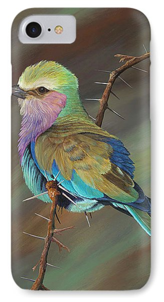 IPhone Case featuring the painting Crystal's Bird by AnnaJo Vahle