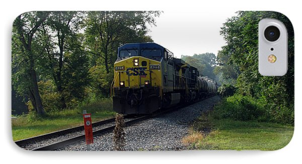 Csx 425 Coming Down The Tracks IPhone Case by George Jones