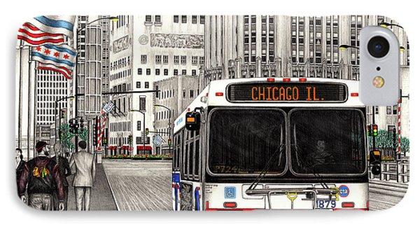 Cta Bus On Michigan Avenue IPhone Case