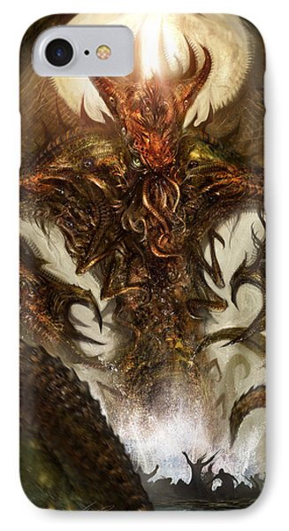 Cthulhu Rising IPhone Case by Alex Ruiz