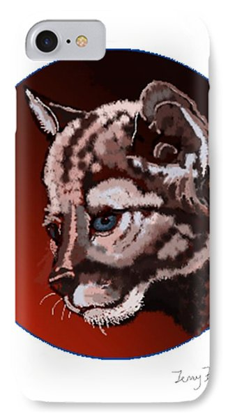 IPhone Case featuring the drawing Cub by Terry Frederick