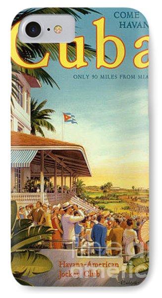 Cuba-come To Havana IPhone Case by Nostalgic Prints
