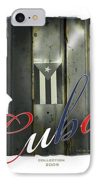 Cuban Flag On Door IPhone Case by Bob Salo