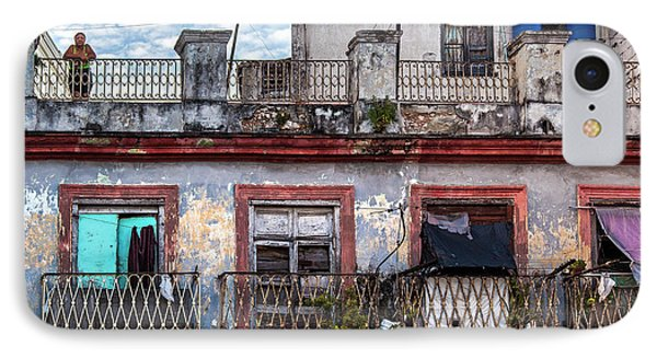 IPhone Case featuring the photograph Cuban Woman At Calle Bernaza Havana Cuba by Charles Harden
