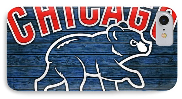 Cubbies Graphic Barn Door 2016 IPhone Case by Dan Sproul