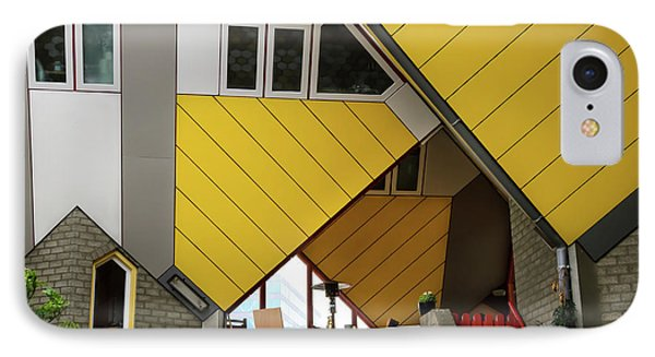 IPhone Case featuring the photograph Cube Houses Detail In Rotterdam by RicardMN Photography