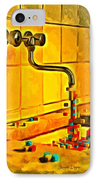 Cubic Water - Da IPhone Case by Leonardo Digenio