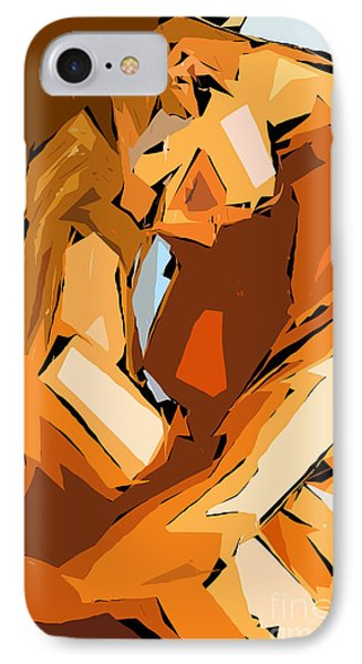 Cubism Series Ix IPhone Case by Rafael Salazar
