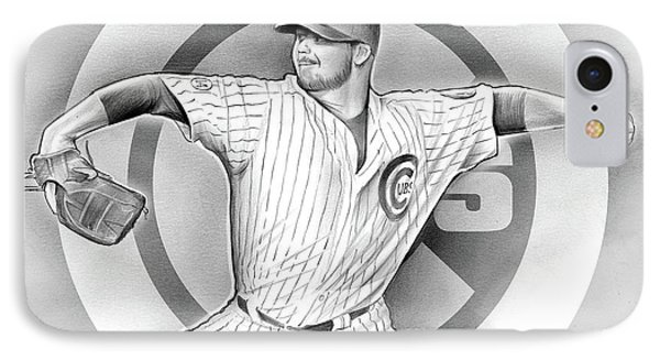 Cubs 2016 IPhone Case by Greg Joens
