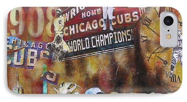 Cubs-2016 IPhone Case by Joseph Catanzaro