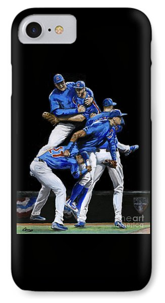 Cubs Win IPhone Case by David Evans