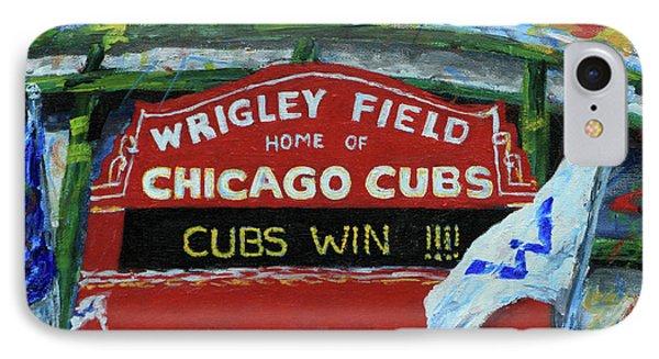 Cubs Win IPhone Case by Elizabeth Roskam
