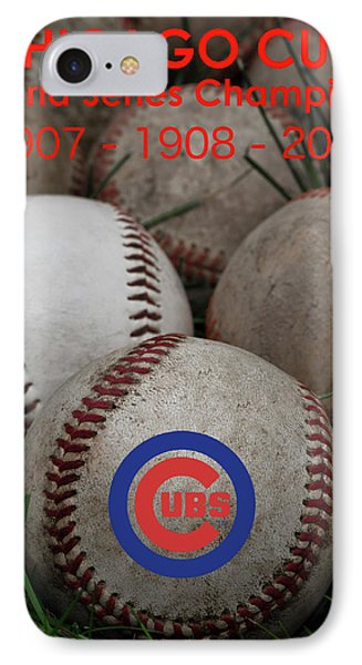 Cubs - World Series Champions IPhone Case by David Patterson