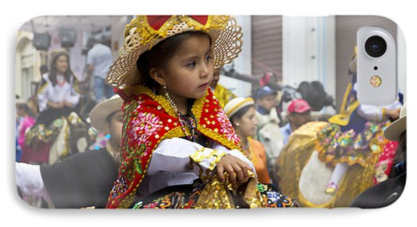 Cuenca Kids 630 - Painting IPhone Case by Al Bourassa