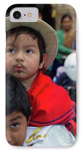 Cuenca Kids 758 IPhone Case by Al Bourassa