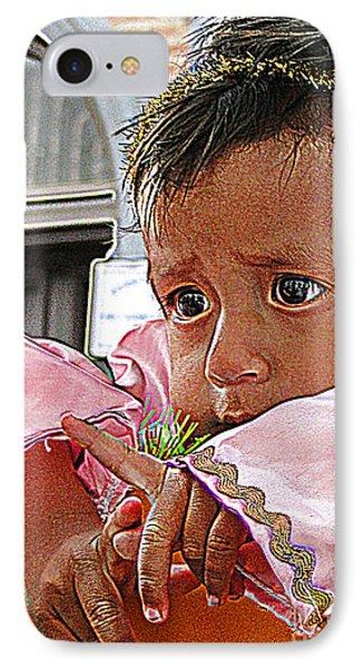 Cuenca Kids 881 IPhone Case by Al Bourassa
