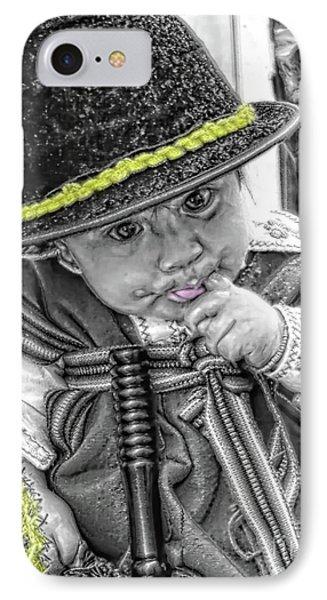 Cuenca Kids 888 IPhone Case by Al Bourassa