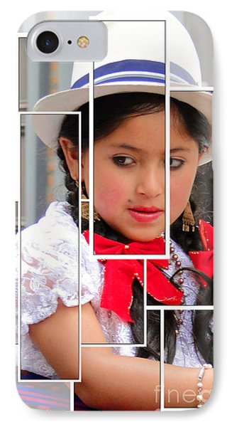 IPhone Case featuring the photograph Cuenca Kids 890 by Al Bourassa