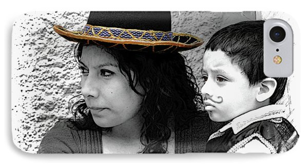 Cuenca Kids 912 IPhone Case by Al Bourassa