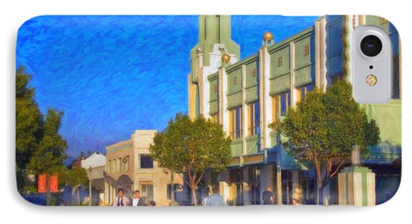 Culver City Plaza Theaters   IPhone Case by David Zanzinger