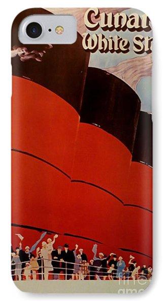 Cunard-white Star Ocean Liner Poster IPhone Case