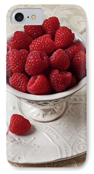 Raspberry iPhone 7 Case - Cup Full Of Raspberries  by Garry Gay