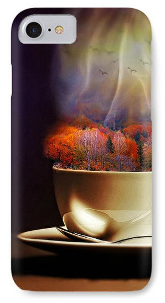 Cup Of Autumn IPhone Case by Lilia D