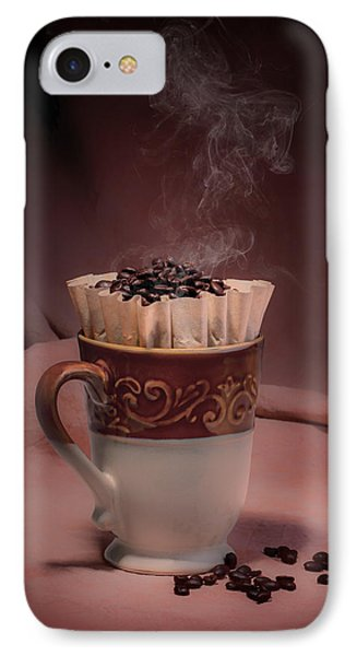 Cup Of Hot Coffee IPhone Case by Tom Mc Nemar