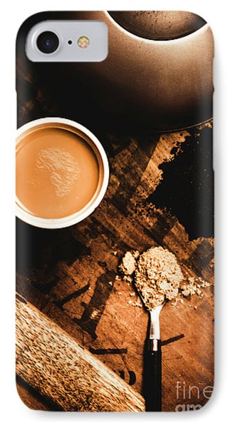 Cup Of Tea With Ingredients And Kettle On Wooden Table IPhone Case by Jorgo Photography - Wall Art Gallery