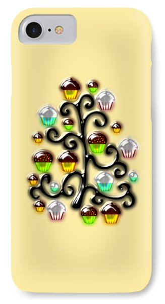Cupcake Glass Tree IPhone Case